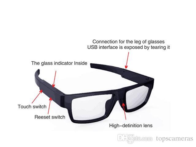 08b6b89c46b 2019 1080p Mini Dv Camera HD 1080P Smart Touch Control Glasses Camera  Sunglasses Video Recorder 1080p Sunglasses Camera From Topscameras