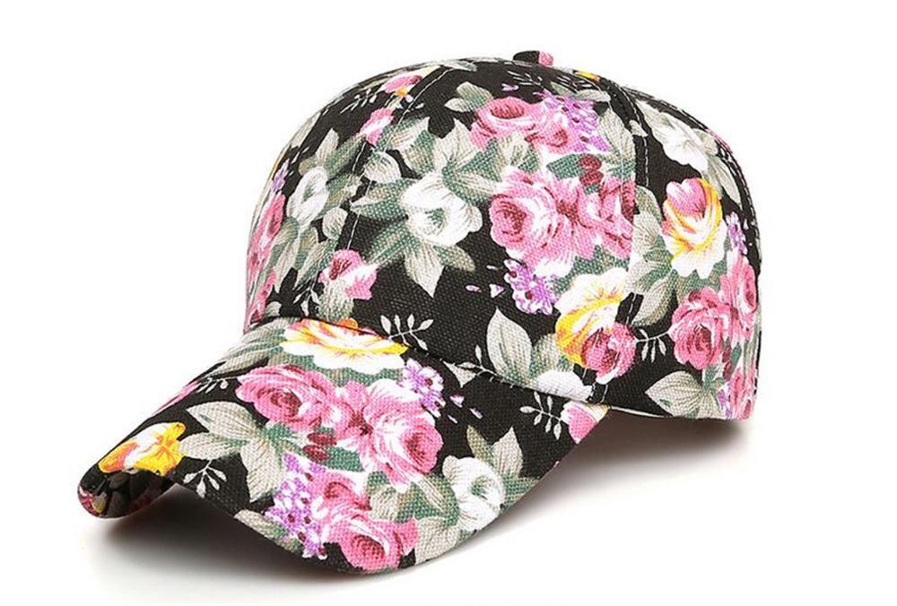 799489c936e Winter Women Cotton Red Ponytail Baseball Cap Women Flower