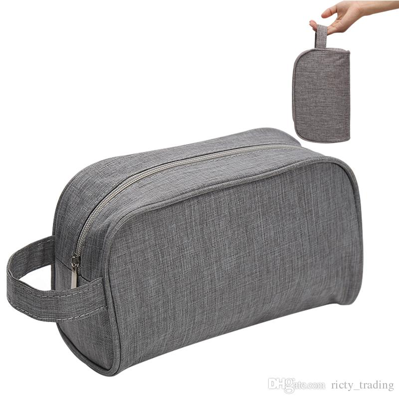 Simple Portable Men Wash Cosmetic Bags High Quality Solid Women Storage Bag  Make Up Tools Organizer Beauty Toiletry Cases Travel Accessories UK 2019  From ... 33bee0d787d2a