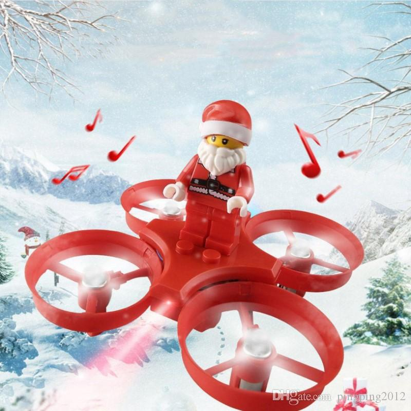 Now H67 Flying Santa Claus with Christmas Songs RC Helicopter Drone Christmas Toy Remote Control Aircraft For Kids Gift 10PCS