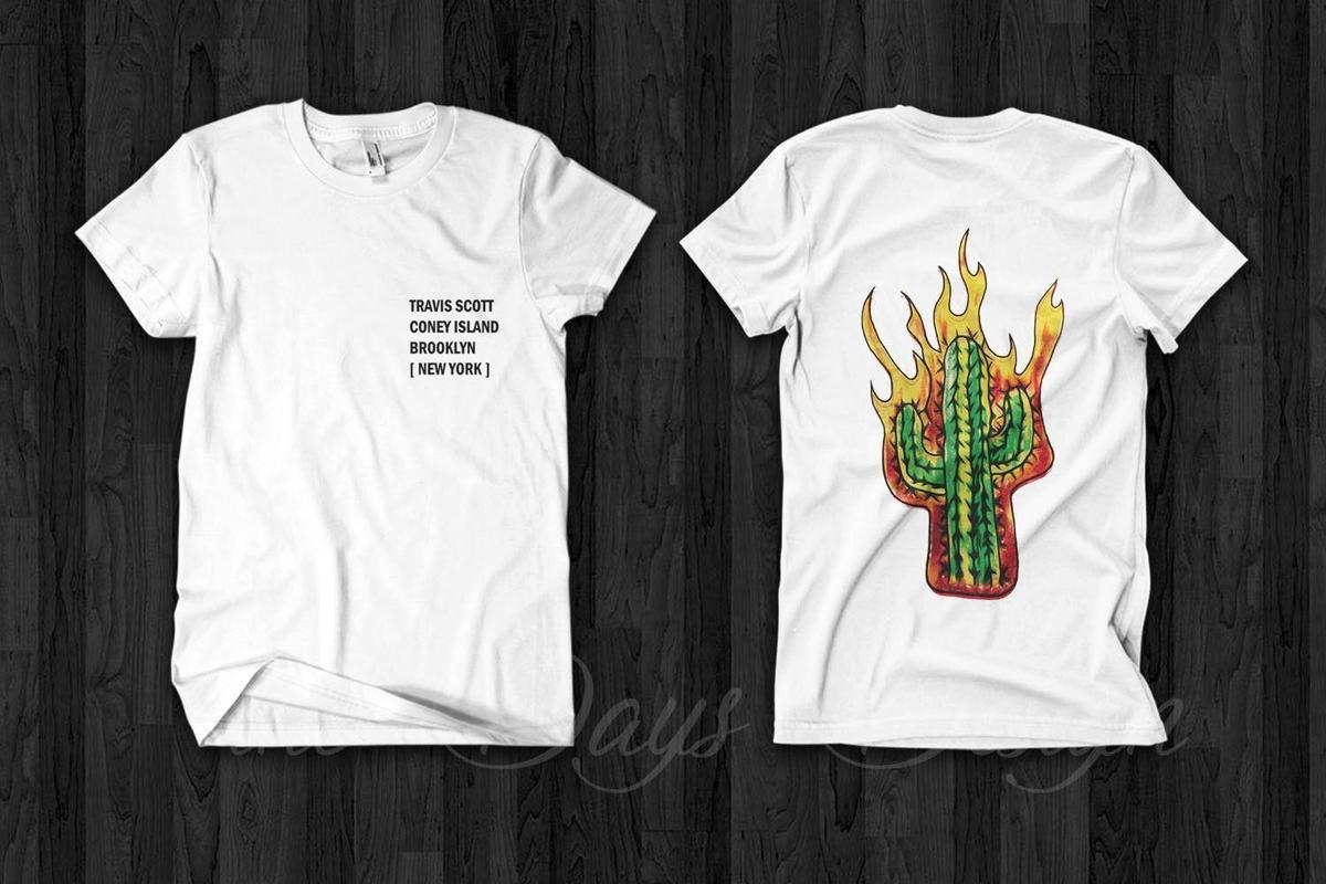 Compre Travis Scott Coney Island Brooklyn Rodeio Madness Tour Merch  Astroworld Camiseta 2018 De Alta Qualidade Da Marca Dos Homens T Camisa  Casual Manga ... aad6ac3b498