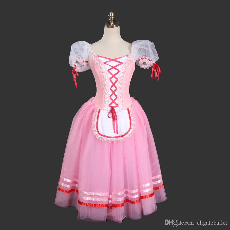 02b5c24f921 2019 Girls Pink Classical Giselle Ballet Dress Brown Romantic Ballet  Costumes Children Blue Long Giselle Skirts Adults Purple Ballet Cloth Kids  From ...