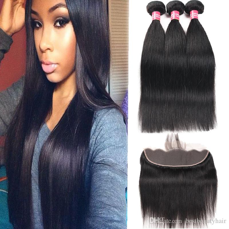 8a Remy Brazilian Hair Weave Straight Body Wave Curly 3 Bundles With