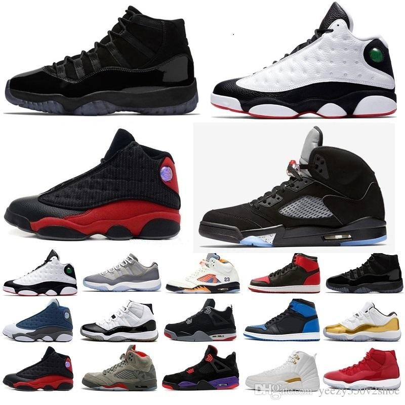 best cheap 97335 d3ed0 Compre Nike Jordan Retro Jordans Shoes 11 13 12 4 1 5 11s 13s 12s 4s 1s 5s  Cheap Sale 13 IV Zapatillas De Baloncesto Bred Sports Sneakers Hombres 13s  NEGRO ...