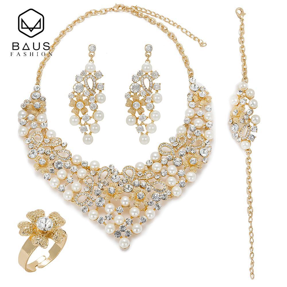 2019 Baus 2018 Dubai Gold Color Earrings Jewelry Sets Design