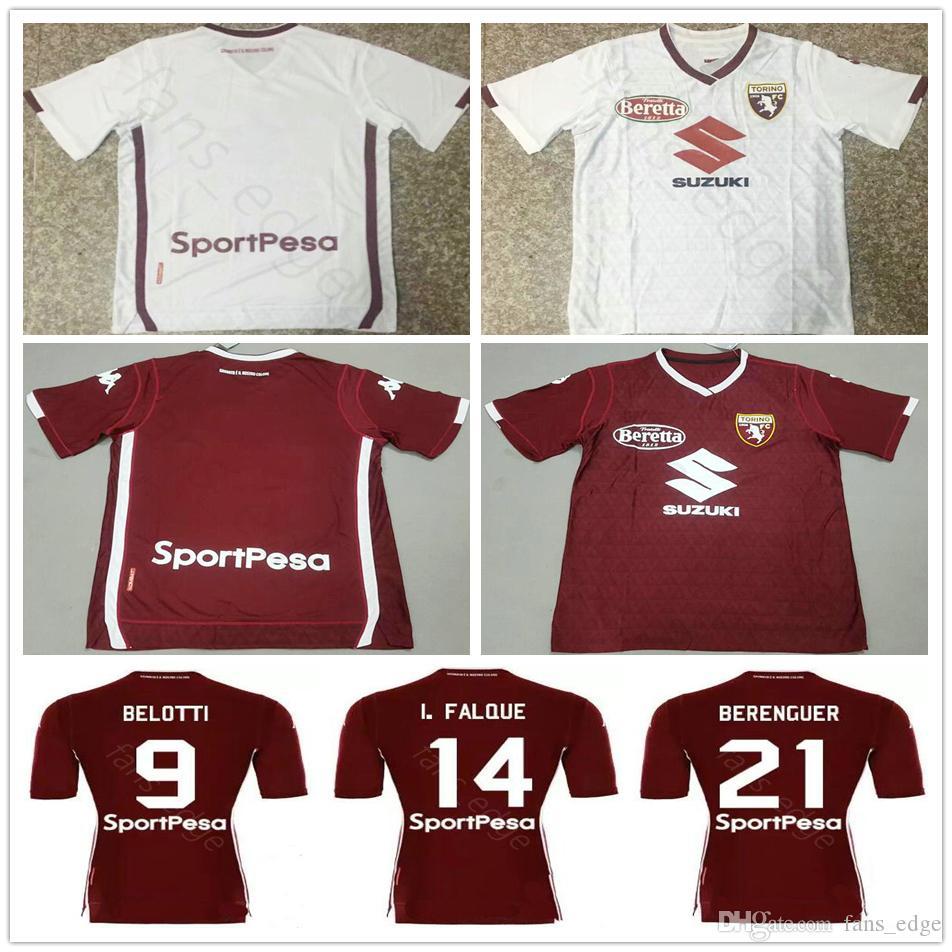 14a3e6963 18 19 Thai Quality Torino FC Football Jersey BASELLI BELOTTI BENASSI ...