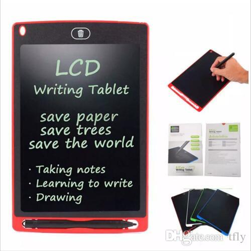 8.5 inch LCD Writing Tablet Memo Drawing Board Blackboard Handwriting Pads With Upgraded Pen for Kids Office gift One Butt Electronic 5color
