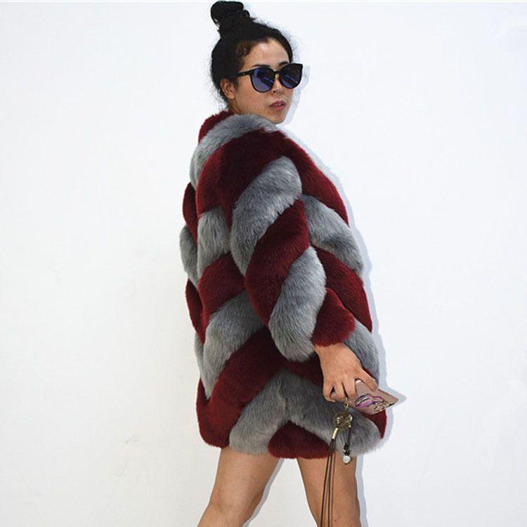 7814c5617df ZADORIN 2018 Designer Brand Luxury Faux Fox Fur Coat Women Plus Size Winter  Coat Thick Warm Fake Fur Jacket Coats Chaqueta Mujer C18111501 UK 2019 From  ...