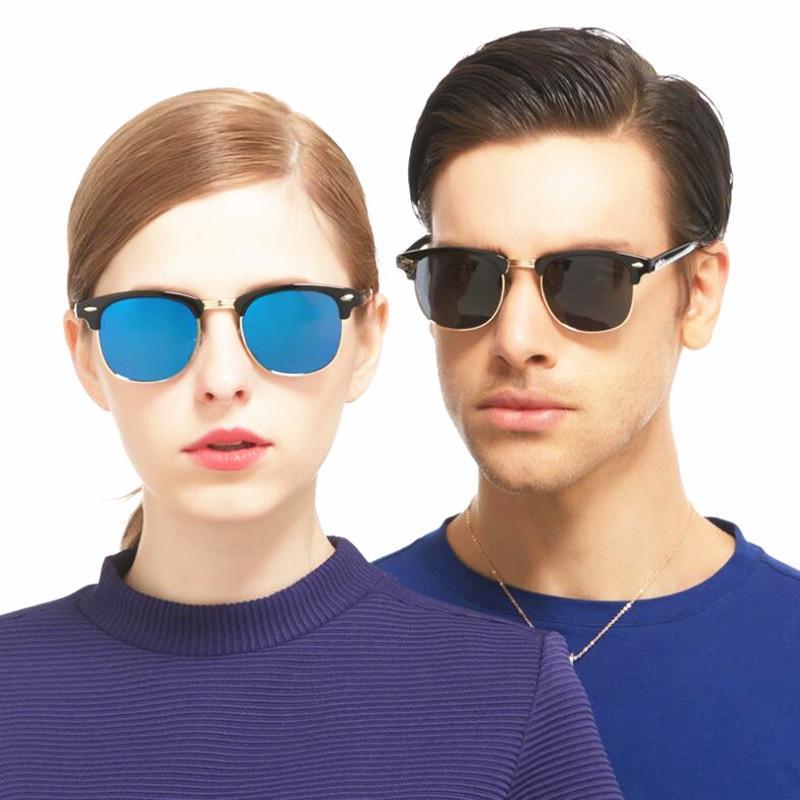 3bda1819fa 2018 New Fashion Semi Rimless Polarized Sunglasses Men Women Brand Designer  Half Frame Sun Glasses Classic Oculos De Sol UV400 Oversized Sunglasses  Best ...
