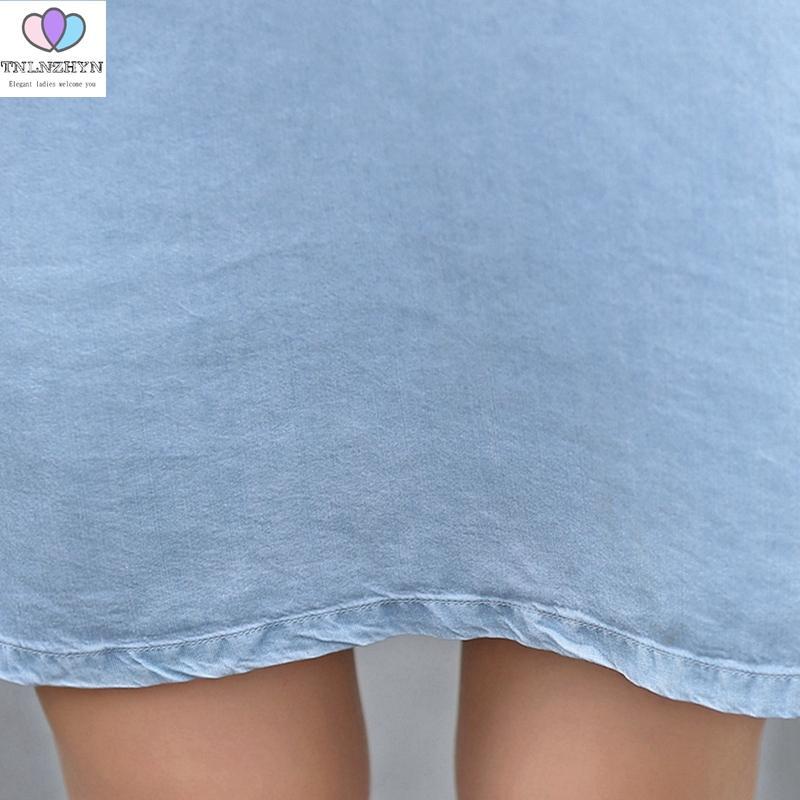 TNLNZHYN 2017 Vestido de Verão Novas Mulheres Da Moda Denim Vestidos O Pescoço Fora Do Ombro Sexy Vestido Bonito Da Menina Impressão Casual Vestido AL212