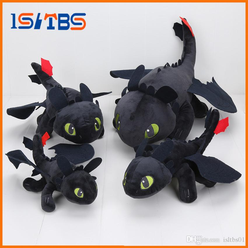 23 55cm anime how to train your dragon plush toys toothless plush night fury plush stuffed animal doll toy christmas kids gift five nights at freddy plush - How To Train Your Dragon Christmas