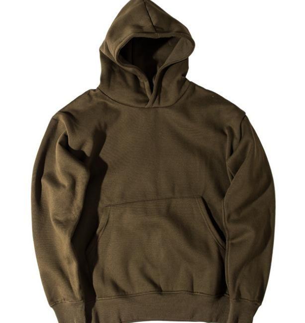 Men's Hoodie Sweatshirt Kanye Hip Hop Streetwear Male Oversized Plain Pullover Hoodies Cool Winter Hooded Sweatshirt Jacket Coat