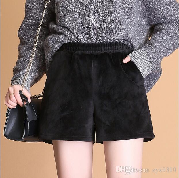 40a19bc7cc76 2019 Autumn And Winter Leisure Women Wear Black Shorts Jinsirong Wide Leg  Pants All Match Boots Pants Tide Hong Kong Flavor From Zyx0310, $18.1 |  DHgate.Com