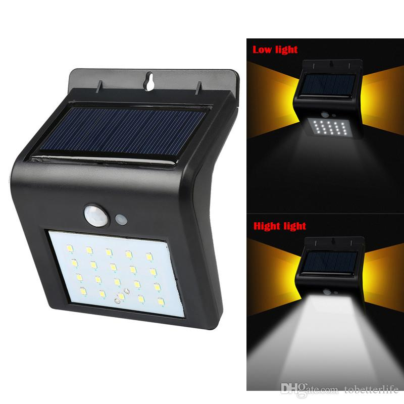 Security & Protection 20led Waterproof Abs Solar Powered Motion Sensor Lamp Outdoor Garden Fence Landscape Lamp Stair Yard Light Wall Lamp New Arrival