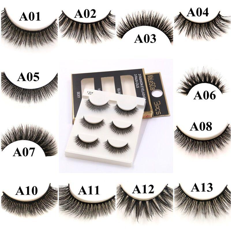 20 Styles False Eyelashes 3d Mink Eyelashes Natural Crisscross Soft