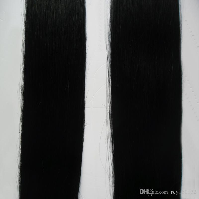 Micro Link Human Hair Extensions Jet Black Brazilian Micro Ring Loop Hair Extensions 200g/pc Micro Loop Human Hair Extensions