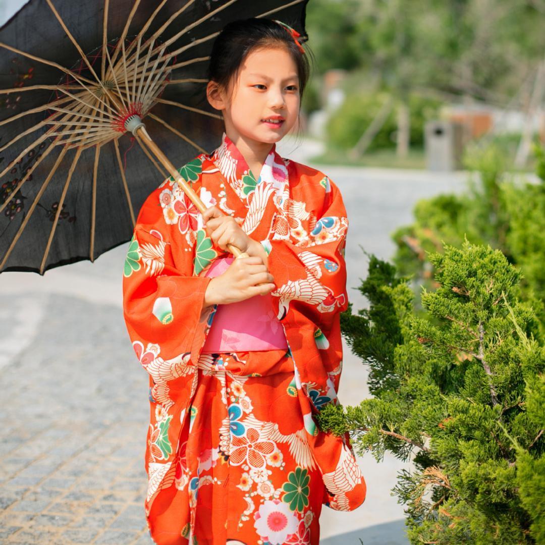 927f5a6215f7c Japanese Traditional Girl Kimono Elegant Print Flower Yukata With Obi  Vintage Stage Performance Dress Christmas Cosplay Costume