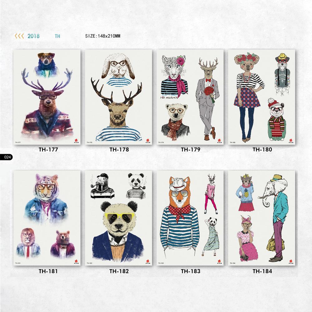 Acheter Tatouages Kawaii Mignon Pour Hommes Femmes Animaux Panda