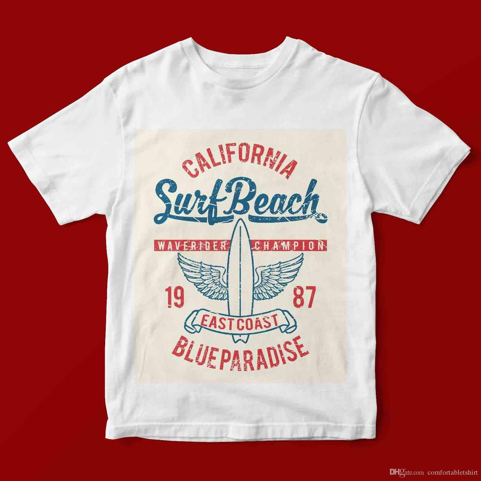 California Surf Beach T Shirt Unisex 973 Funny T Shirts Prints Funky