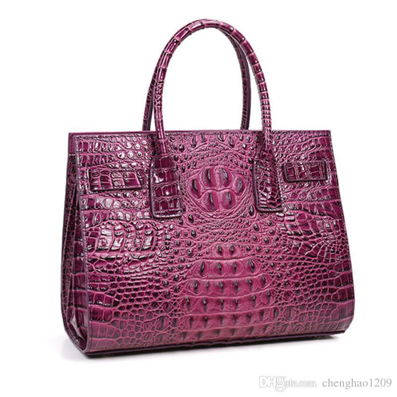 03ba260bc6 High Grade New Professional Women Aligator Casual Tote Genuine Leather Bags  Handbag Lady Crocodile Skin OL Red Bag Q1026 Ladies Handbags Leather  Handbags ...