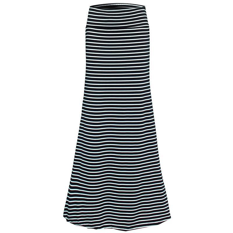 a1260f35a Good Quality Women Summer New Long Skirt Striped Wave Charming Elastic High  Waist Boho Printing Saia Falda Female Maxi Skirt Online with $34.59/Piece  on ...