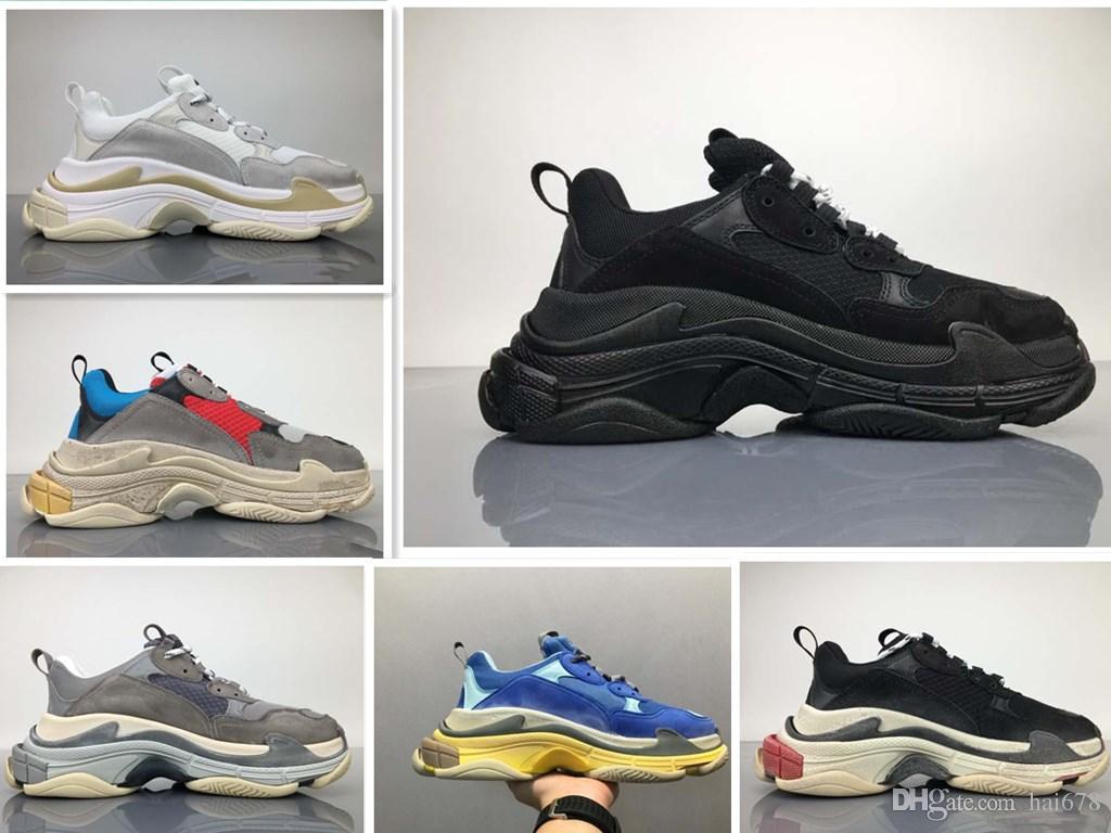 5c7f00e467b Acheter original Shoebox 2018 Top Qualité Nouveau Triple S Sneakers Hommes    Femmes Chaussures De Course Chaussures De Sport Taille 36 45 De  140.71  Du ...