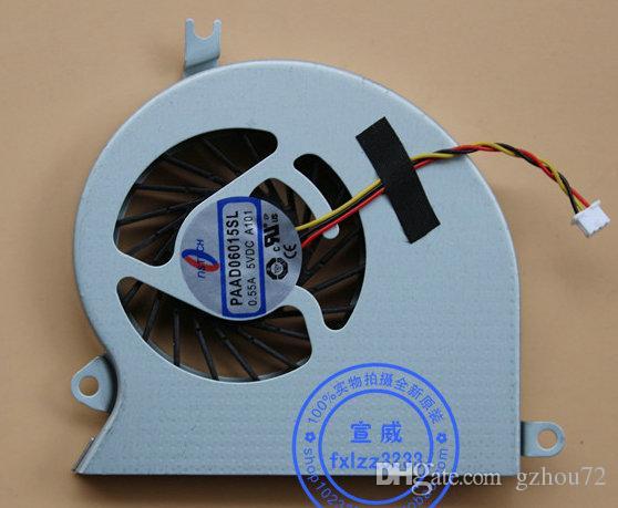 Originais novos nstech PAAD06015SL 0.55A 5VDC A101 para MSI GE40 X460 X460DX MS-1492 1,491 portátil ventilador de refrigeração
