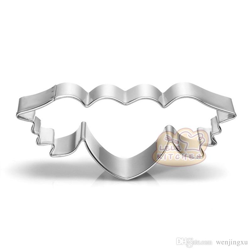 Fly Heart cookie cutter wedding Metal biscuit tool Fruit die cut Sushi stamp sandwich mold baking cake pastry cupcake topper