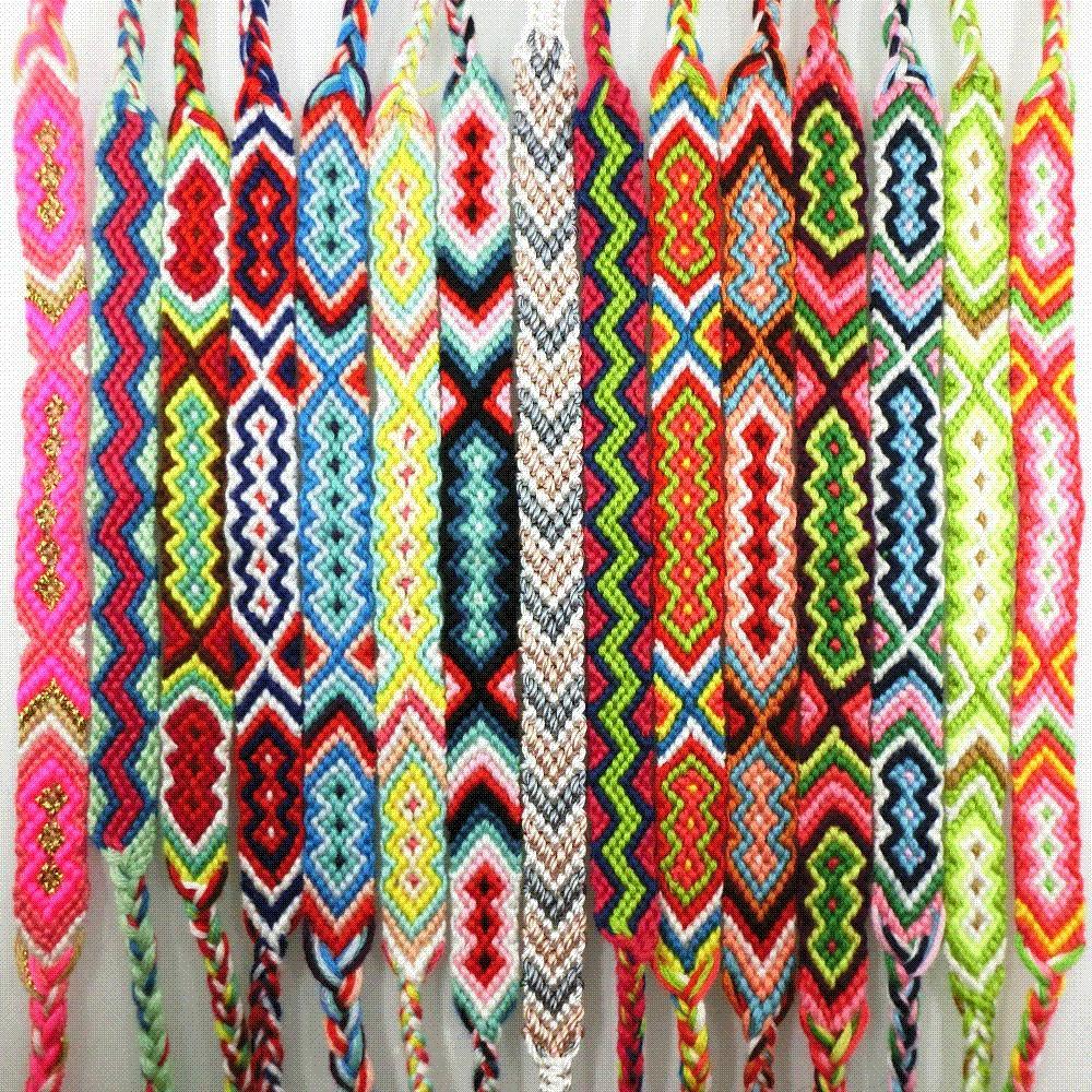 amiu handmade bracelet custom cotton wrap popular woven rope string friendship bracelets for. Black Bedroom Furniture Sets. Home Design Ideas