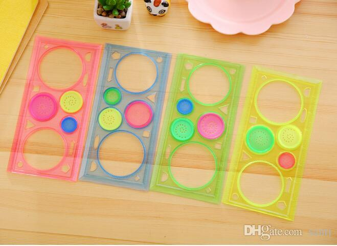 School & Educational Supplies 1 Pcs New Creative Spirograph Geometric Ruler Learning Drawing Tool Stationery For Student Drawing Set Creative Gift