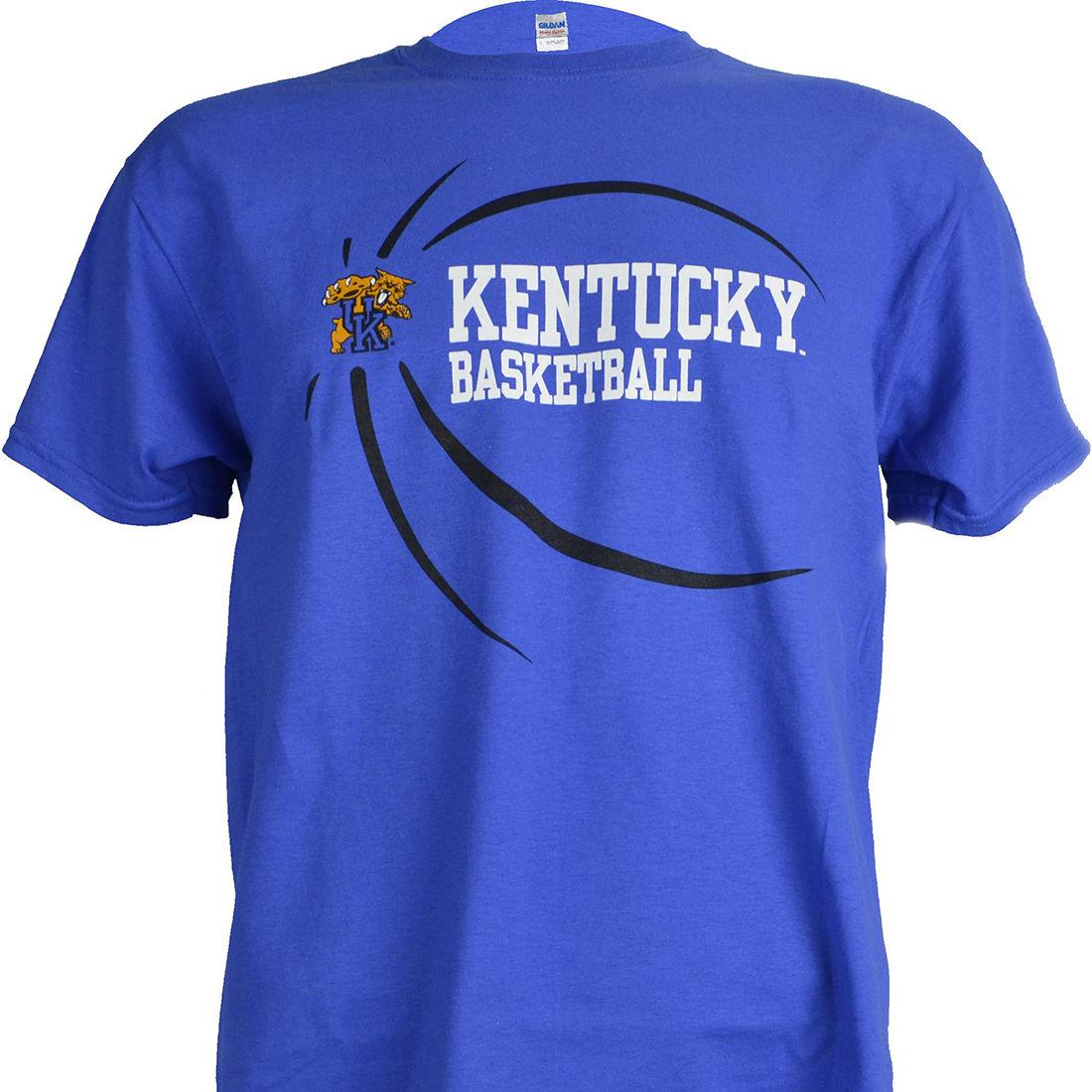 University Of Kentucky UK Ball On Blue Shirt UK Basketball Wildcats Apparel  Humorous T Shirt Cool And Funny T Shirts From Xsy18tshirt 5e12f555a