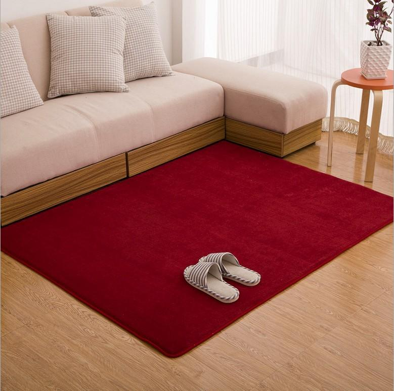 Sunnyrain Solid Color Short Plush Indoor Rugs And Carpets For Living