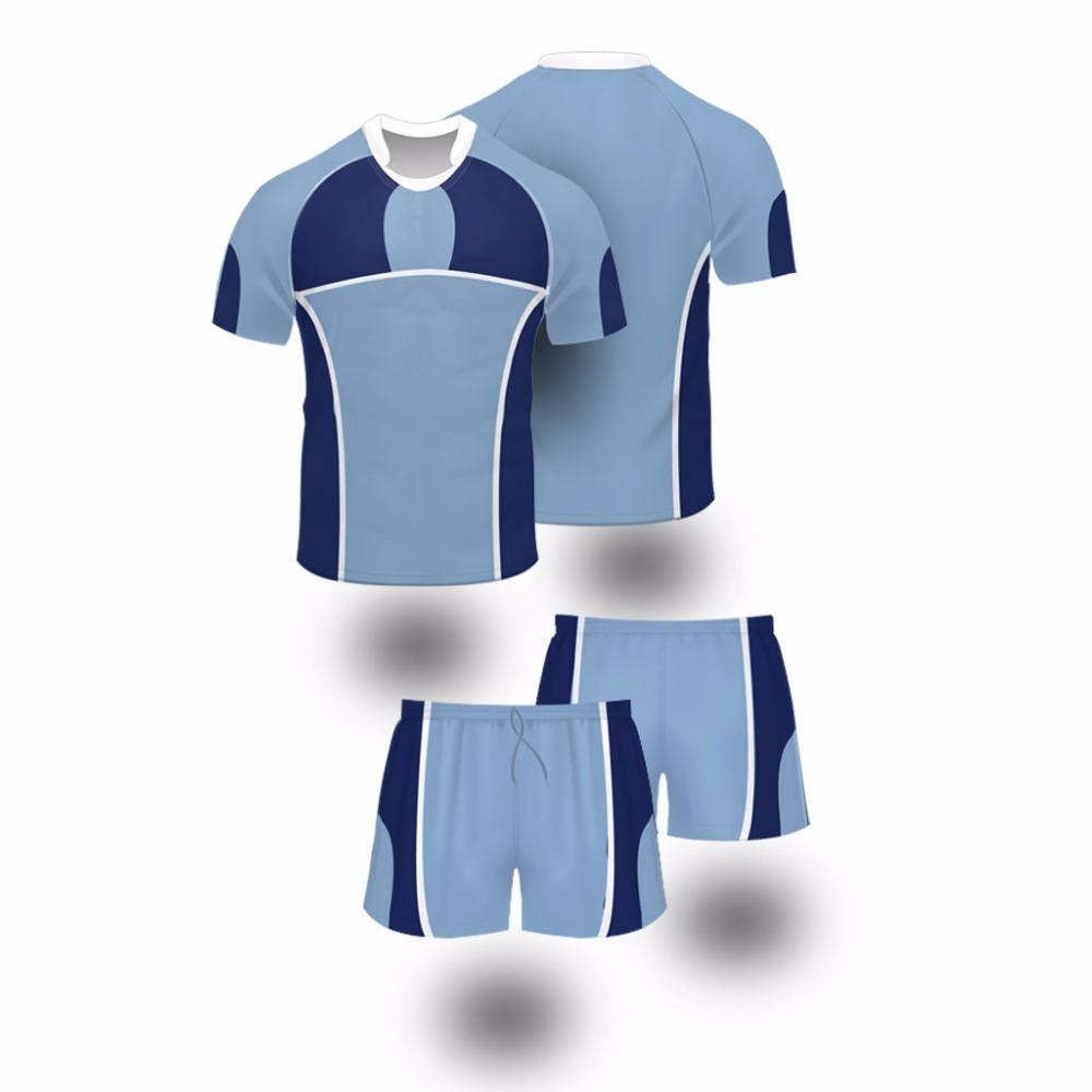 677a73690e1 2019 2017 Blue Color Custom Sublimation Rugby Jerseys Uniforms For Men Or  Women From Yangmeijune