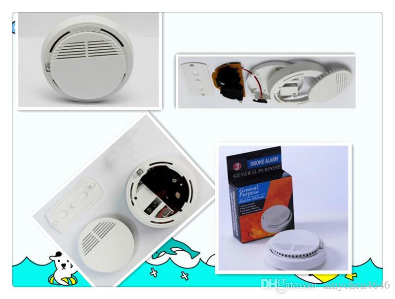 New Version White Home Security System Photoelectric Independent Smoke Detector Fire Alarm with DHL