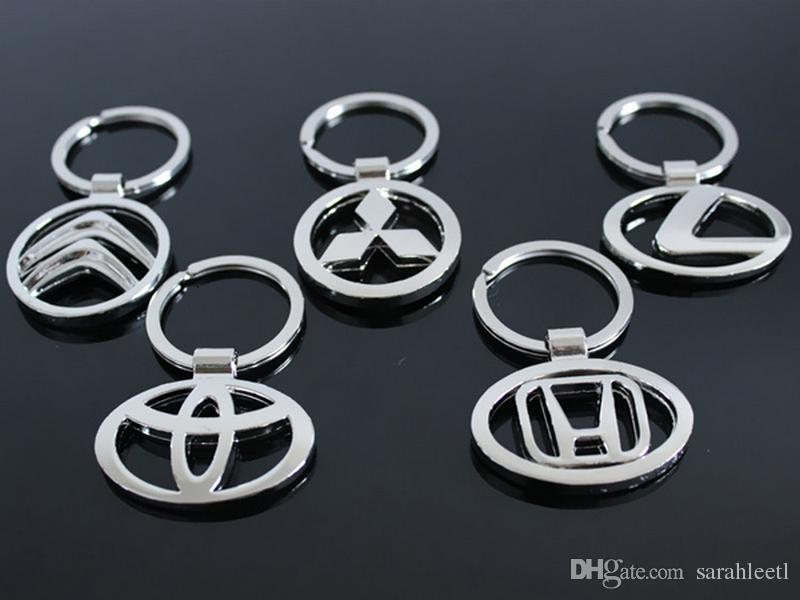 Nuevo regalo de la novedad La aleación del cinc 3D ahuecó el logotipo del coche Llavero Llavero - casi 50 Logotipo del coche