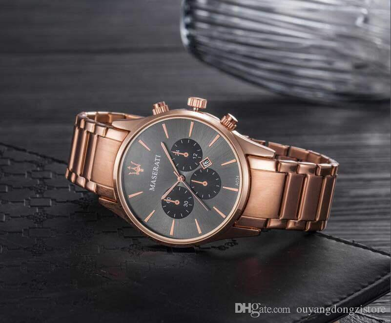 Luxury Time Table Men's Fashion Casual Sport Watches Men Waterproof Stainless Steel Quartz Watch Man military Clock Relogio Masculino