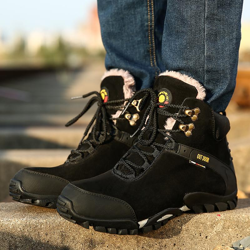 461d64665b5 Hunting Boot For Men Waterproof Backpacking Shoes Breathable Outdoor Fur  Lined Hiking Boot Genuine Leather Trekking Shoes High Heels Heels From  Fastworld