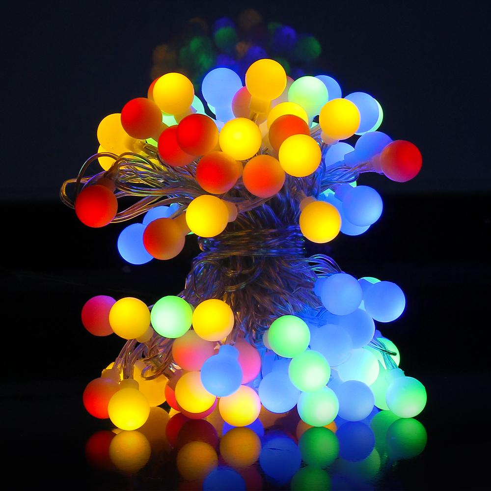 wholesale 10m 100leds pearl bulb warm whiled fairy string light 8 modes outdoor garden home decoration christmas light ceul certification globe light