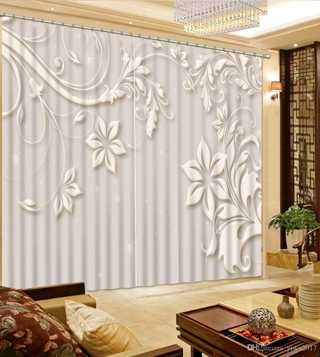 2019 Luxury 2017 Modern Curtains For Living Room Fashionable Jewelry Window Curtain 3d Curtains