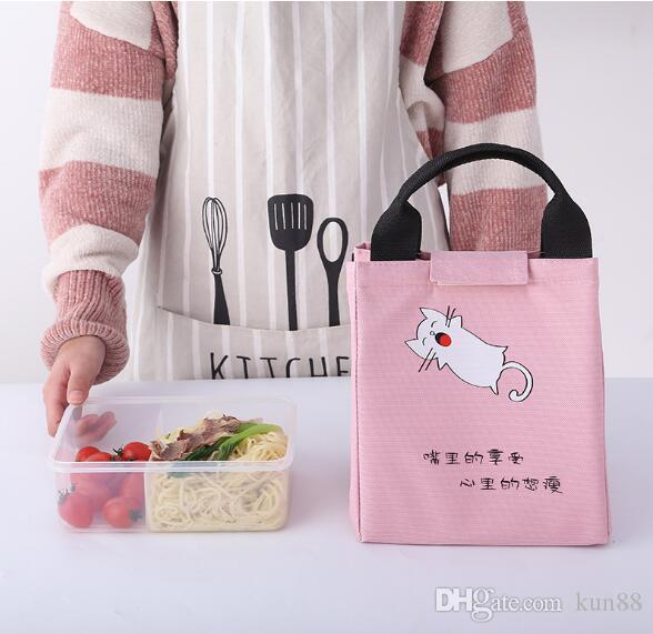 Портативный холодный портативный пакет льда холст обед алюминиевый обед мешок открытый пикник мультфильм охлажденные изоляции пакет