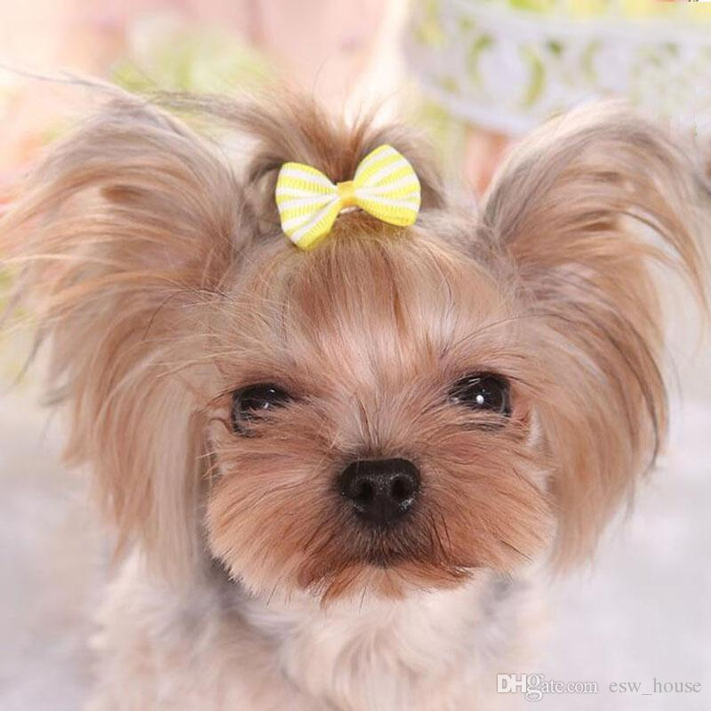 New Lovely Handmade Designer Dog Hair Bows Clip Cat Puppy Grooming Bows for Hair Accessories Free shipping