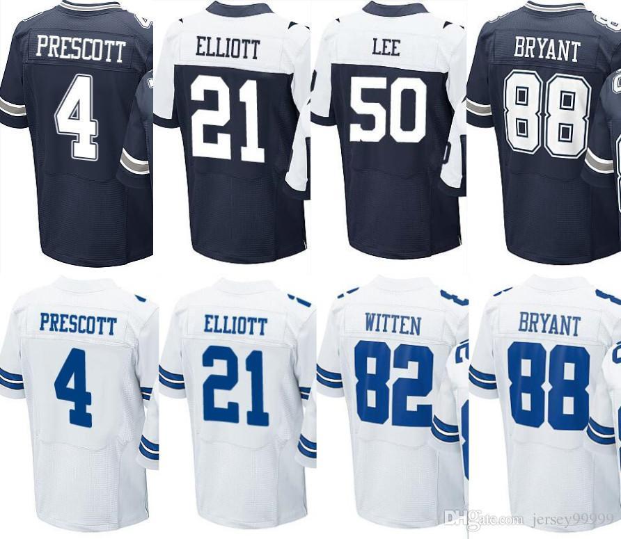 5f7548b2f ... dallas cowboys custom blue size xl jersey jsa 0d932 b38cd  discount  code for men all stitched jerseys 4 dak prescott 82 jason witten 21 ezekiel  elliott