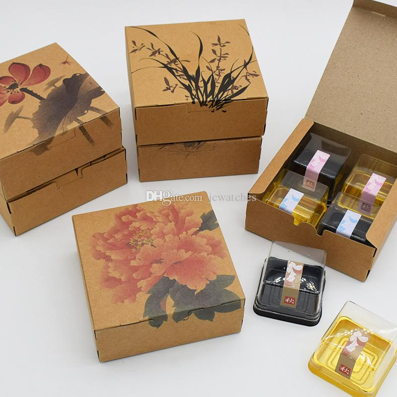 Classic Chinese Ink And Wash Painting Style Mooncake Box Cake Biscuit Candy Package Gift Box Free Shipping