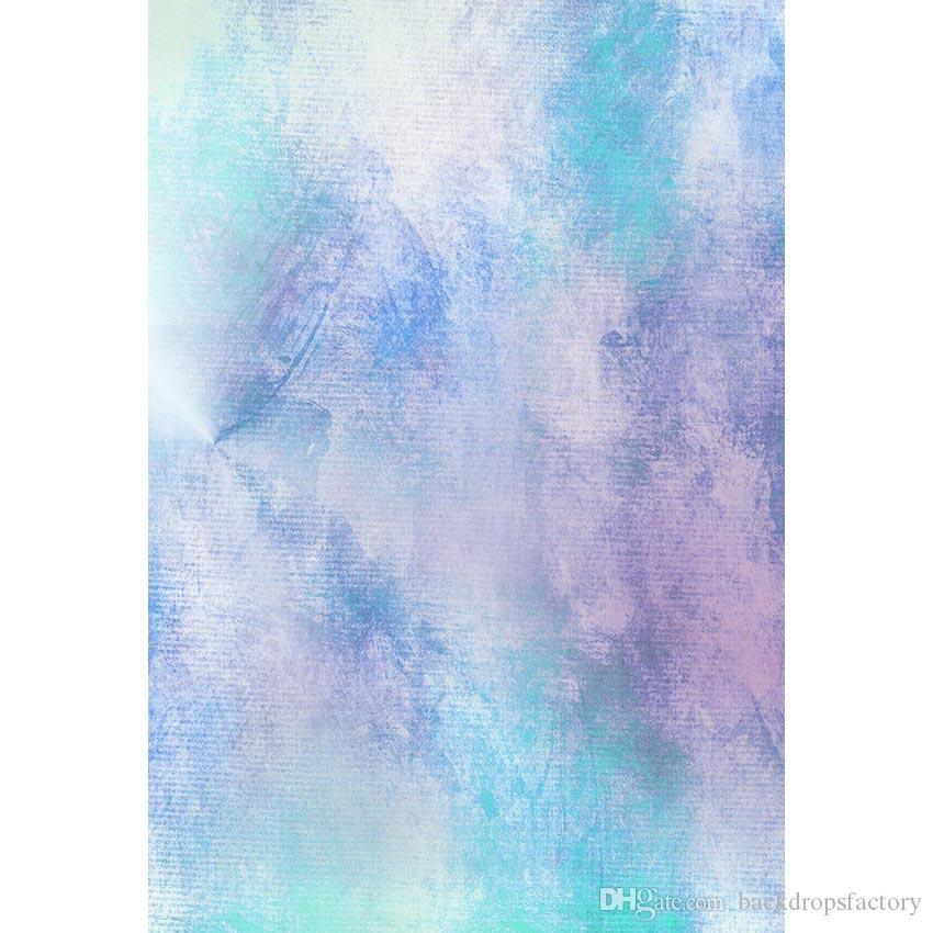 2019 Pastel Blue Purple Watercolor Backdrop For