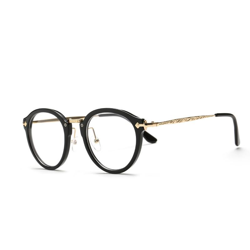 Stylish Vintage Optical Women Round Eyeglasses Round Frames Men ...