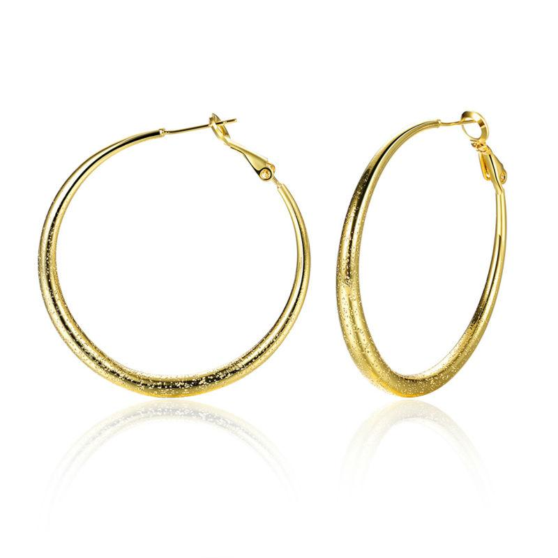 Vintage And New Design Yellow   Rose   White Gold Big Hoop Earrings For  Women Wedding Christmas Jewelry Brincos Bijouterie Big Hoop Earrings Hoop  Earrings ... 104eb836a076