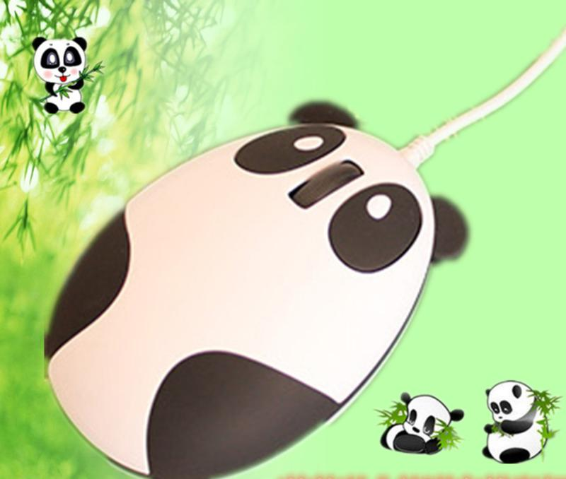 Newly Wired USB Panda Mouse Cartoon Kids Child Wired Mice 1600 DPI Optical  Panda Computer Mause For PC / Laptop Notebook