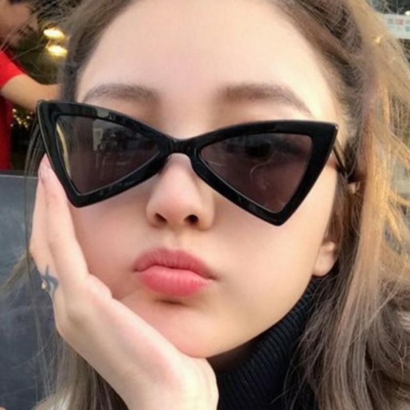 Compre Retro Triangle Sun Glasses Famosa Marca Mulheres Olhos De Gato Óculos  De Sol Vermelhos Borboleta Cateye Óculos Das Senhoras De Winterleng, ... 461d0e06d0