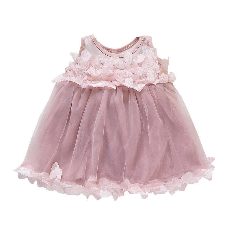 c1a4bbdf7 Baby Dress Clothes Girls 2018 Summer Floral Sleeveless Mesh Dress ...