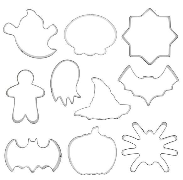 Halloween Baking Moulds DIY Pumpkin Biscuit Cookie Cutter Pastry Fondant Making Cutting Molds Party Cookies Baking Mold